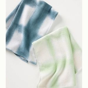 Anthropologie Set of 2 Amie Tie-Dyed Dish Towels